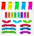 colored ribbons set vector image