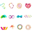 12 colorful symbols set 25 vector image vector image