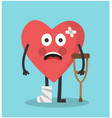 a broken heart suffers vector image