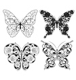 Abstract butterfly set vector image vector image
