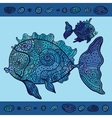Abstract Cartoon Sea Fish vector image vector image