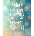 Abstract Christmas light background with retro vector image