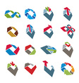 Abstract creative icons collection abstract vector image vector image