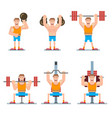 athlete simulators set vector image