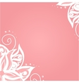 Background with floral pattern vector image vector image