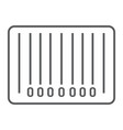 barcode thin line icon e commerce and marketing vector image