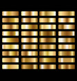big set metallic gold gradients vector image
