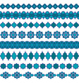 blue moroccan border patterns