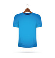 blue t-shirt on a coat hanger vector image vector image