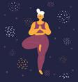 body positive woman in tridasana yoga position vector image vector image