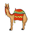 camel animal in cartoon style vector image