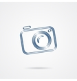Camera icon isolated on a white background vector image vector image