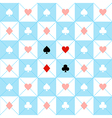 Card Suits Blue White Chess Board Diamond vector image vector image