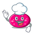 chef ellipse character cartoon style vector image vector image