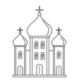 christian church icon outline style vector image