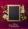 christmas background with copy space vector image vector image