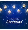 christmas lights xmas colorful bright string vector image vector image