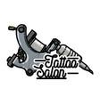 color vintage tattoo shop emblem vector image vector image