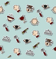 Colored restaurant concept icons pattern