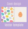 cover design with easter eggs pattern vector image vector image