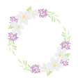 cute colored pencil style floral flower circle vector image