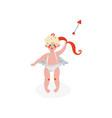 cute cupid shooting archery amur baby angel vector image