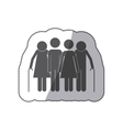 Cute family pictogram vector image vector image