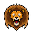 cute lion sign vector image vector image