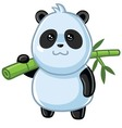 Cute Little Panda Cartoon vector image vector image