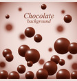 dark chocolate balls on colorful background vector image vector image