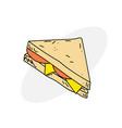 delicious sandwich vector image vector image