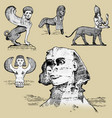 egyptian sphinx and other fantastic creatures vector image vector image