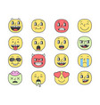 emoji faces with big eyes eps10 vector image vector image