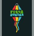 festa junina party balloon text quote card vector image