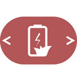 flat paper cut style icon of eco friendly battery vector image vector image