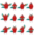 Flat set of Macaw icons vector image vector image