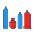 gas tanks set various gas tanks in flat line vector image vector image