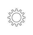 Gear icon outline vector image vector image