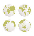 globe earth icon set on white background vector image