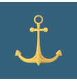 Gold Anchor Ship Equipment vector image vector image