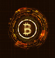 golden bitcoin digital currency futuristic money vector image vector image