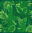 graphic seamless pattern of exotic leaves and vector image