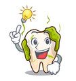 have an idea cartoon decayed tooth with dental vector image