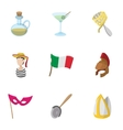 Holiday in Venice icons set cartoon style vector image vector image