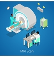 Isometric Medical MRI Scanner Imaging Process vector image