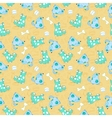 Kid seamless pattern with cartoon blue dogs vector image vector image