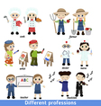 kids professions vector image vector image