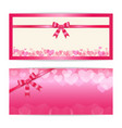 love and sweet theme gift certificate voucher vector image vector image