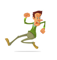 man run away vector image vector image