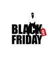 man silhouette sitting on black friday vector image vector image
